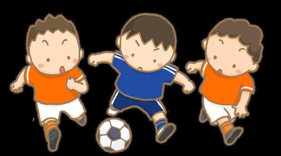 サッカーを楽しんでいる画像